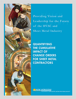Cover Sheet - Quantifying The Impact of Change Order for Sheet Metal Contractors