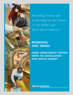 Cover Sheet - Residential HVAC Trends. Home Improvement Centers and Installation Service Market