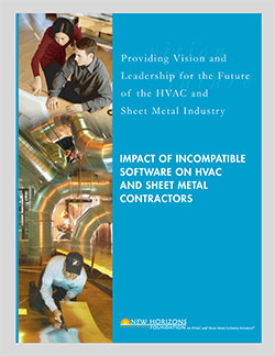Cover Sheet - Impact of Incompatible Software on HVAC & Sheet Metal Contractors