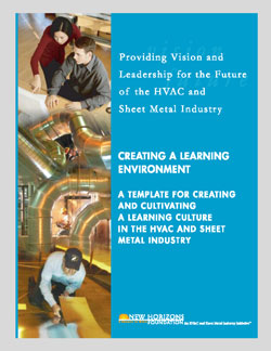 Cover Sheet - Creating a Learning Environment. Template for Creating Culture in HVAC & Sheet Metal