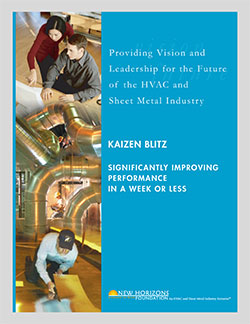 Cover Sheet of Kaizen-Blitz - Significantly Improving Performance in a Week or Less
