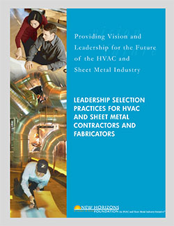 Cover Sheet - Leadership Selection Practices for HVAC & Sheet Metal Contractors