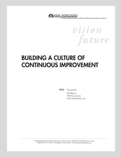 Cover Sheet - Building a Culture of Continuous Improvement