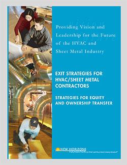 Cover Sheet - Exit Strategies for HVAC & Sheet Metal Contractors