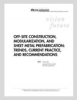Cover Sheet of Off-Site Construction, Modularization, and Sheet Metal Prefeb Report