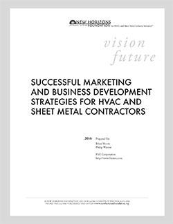 Cover Sheet - Marketing & Business Development Strategies for HVAC & Sheet Metal Contractors
