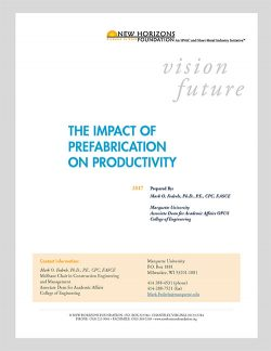 Cover Sheet - Impact of Prefabrication on Productivity