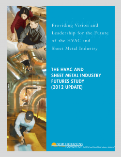Cover Sheet - HVAC & Sheet Metal Industry Futures Study 2012 Update