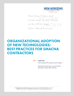 Cover Sheet - Organizational Adoption of New Technologies: Best Practices For SMACNA Contractors